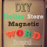Easy DIY Magnetic Word Board