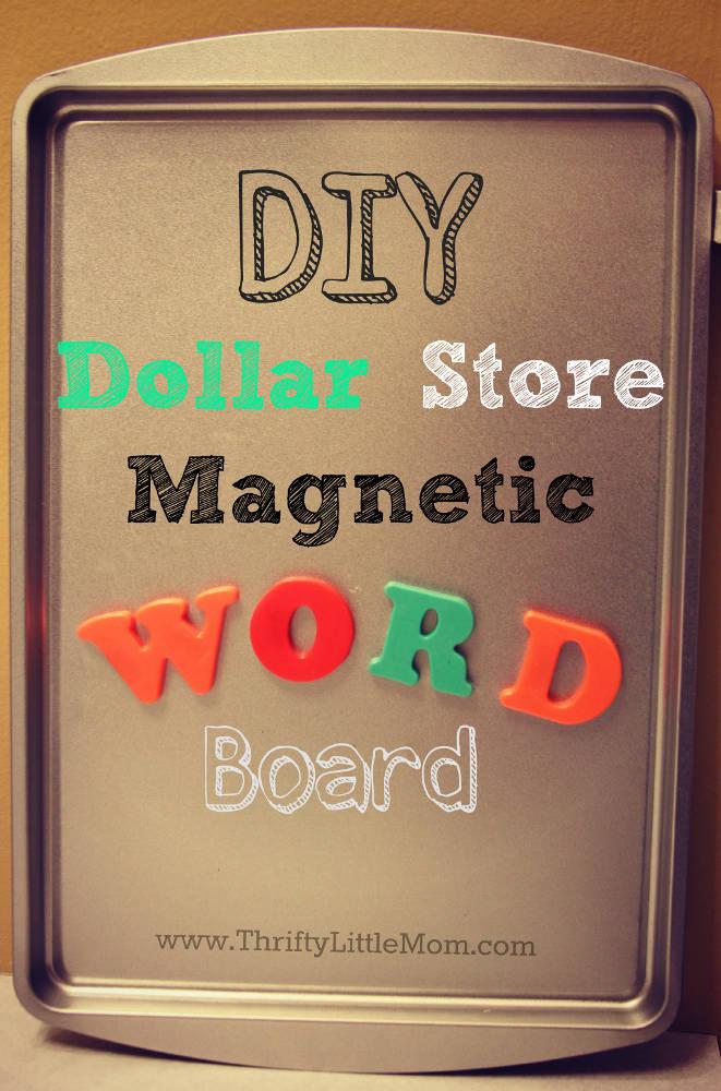 DIY Magnetic Word Board