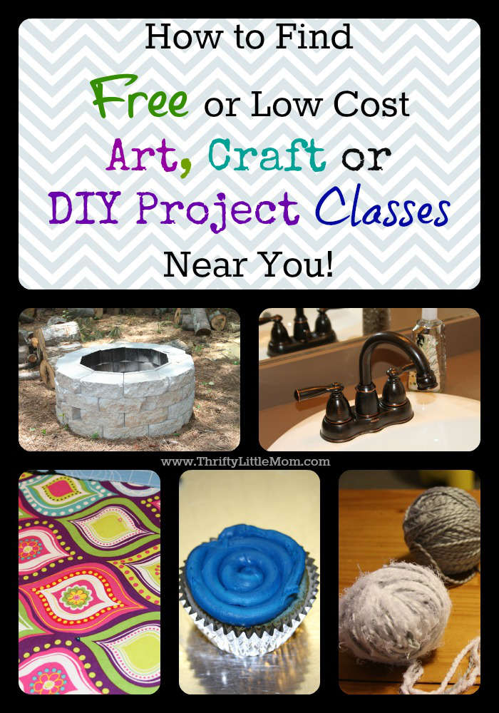 How To Find Free Thrifty Diy Art Craft Classes Thrifty Little Mom