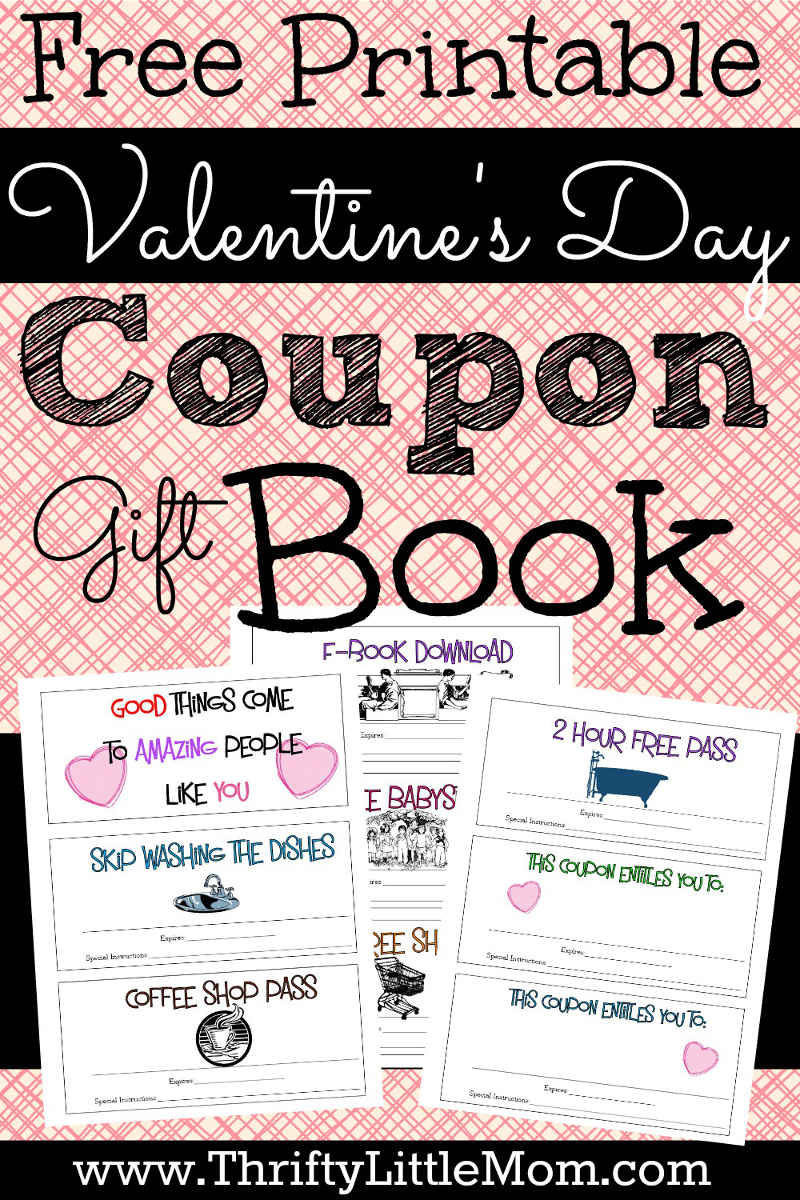 Printable coupons for your valentine thrifty little mom for Coupon book template for boyfriend