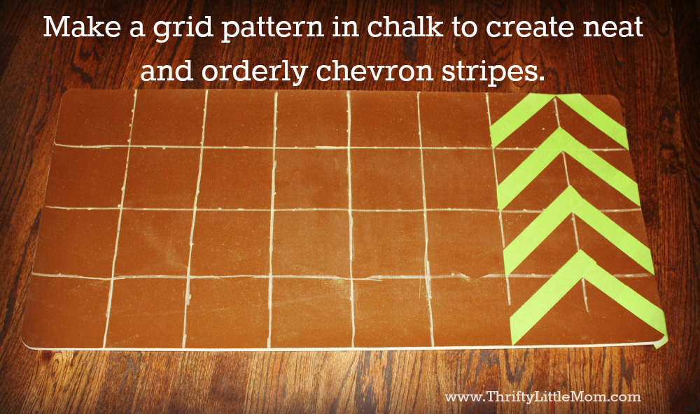 Grid Pattern for Chevron Stripe Kitchen Mat