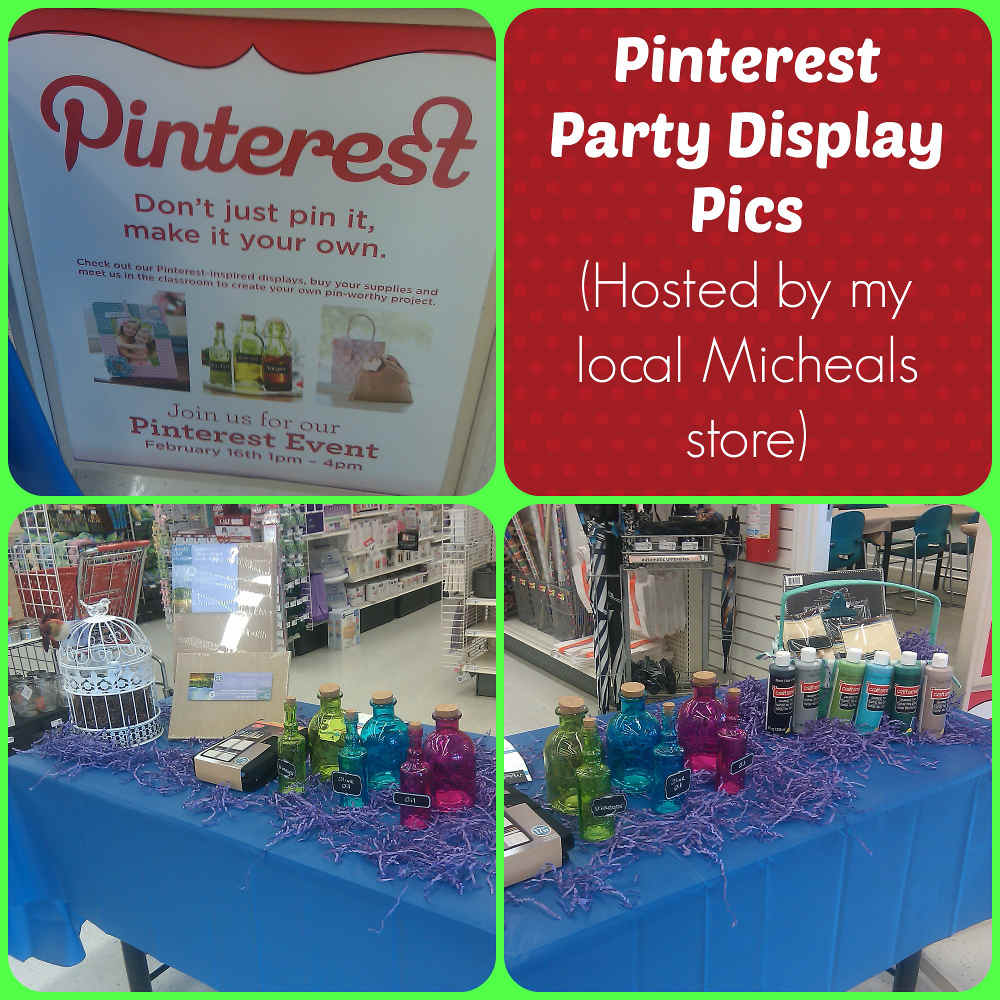 Pinterest Micheals craft party display