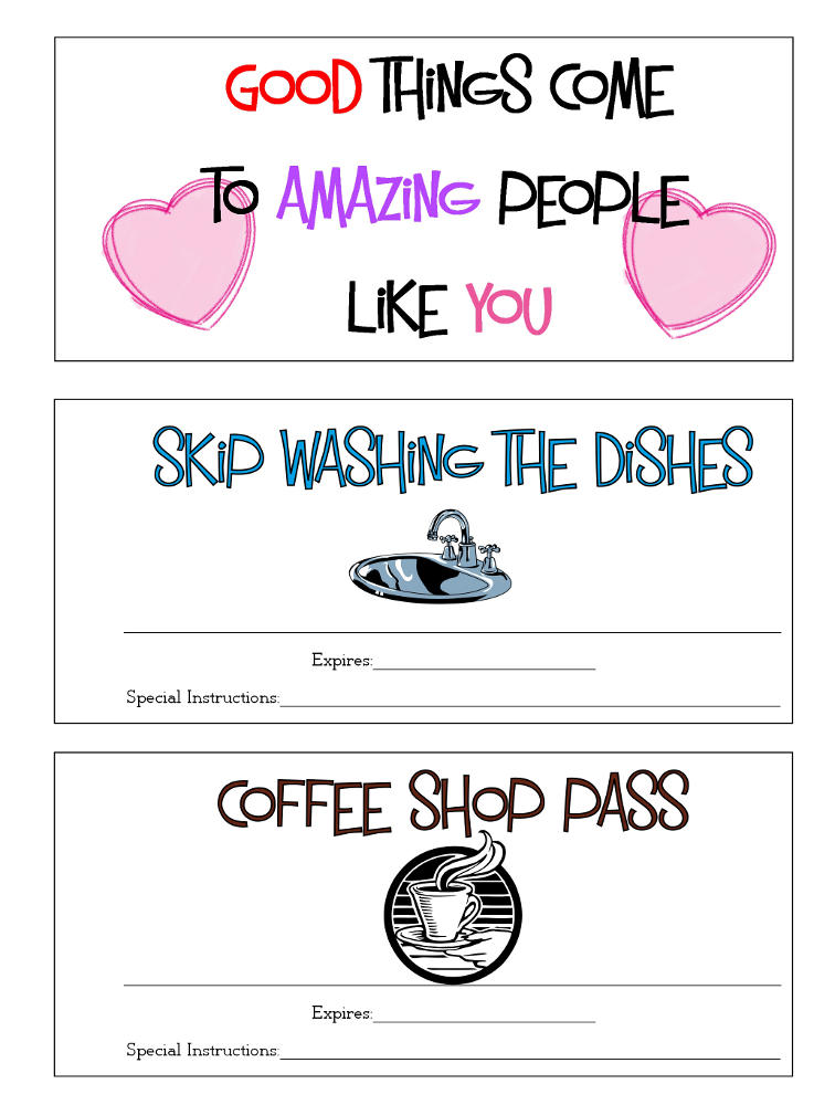 Valentine Coupons Page 1