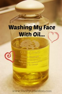Washing My Face With Oil