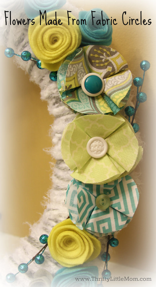 Wrap Wreath Fabric Flowers
