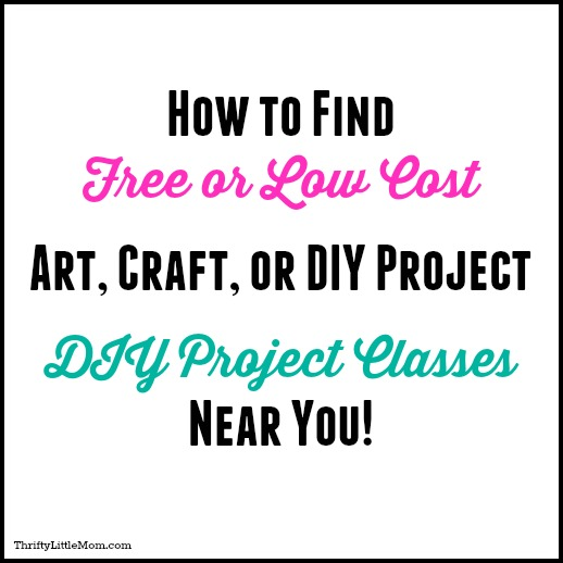 How To Find Free & Thrifty DIY, Art & Craft Classes