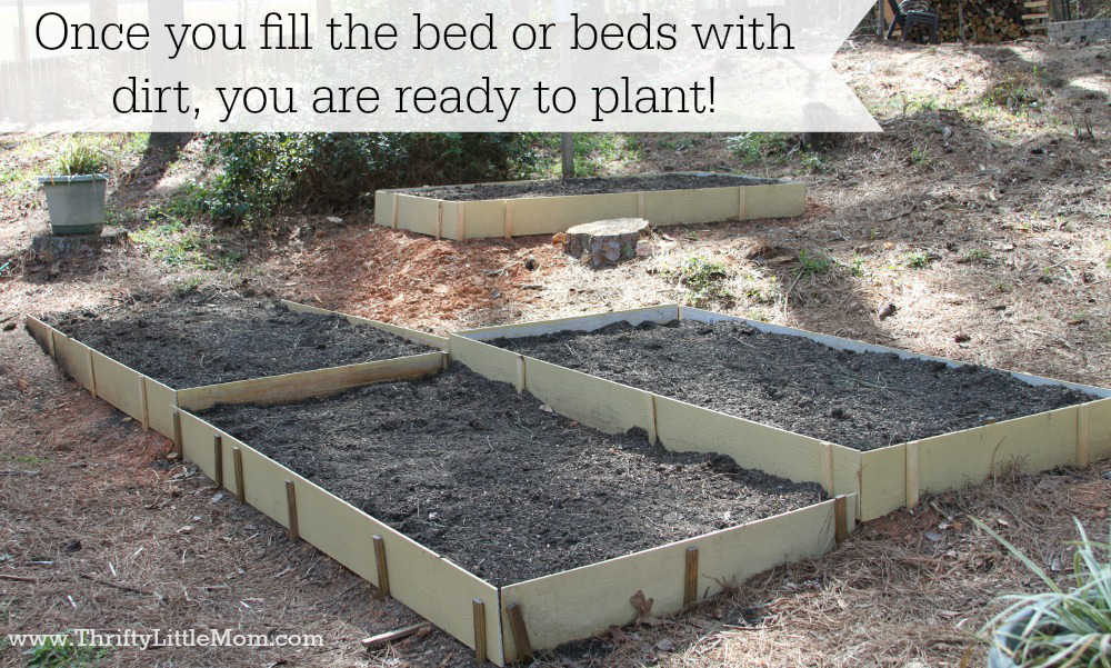 Fill Raised Garden Beds with Dirt