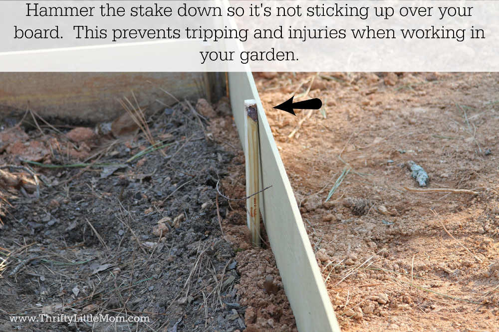 Leveling Raised Garden Bed Stakes