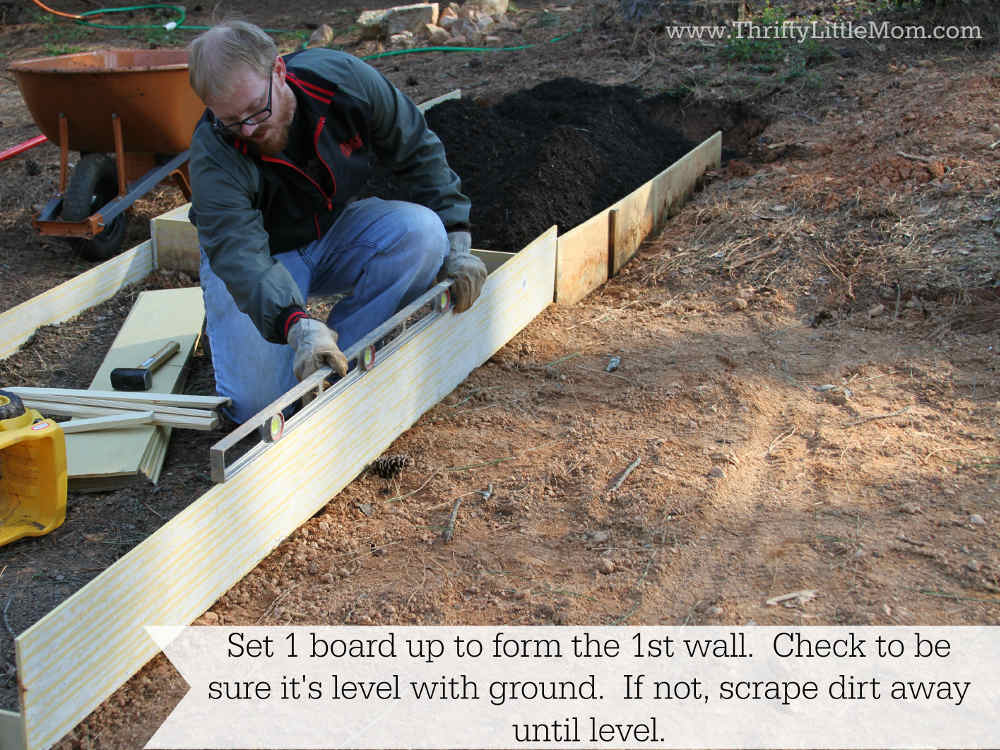 Leveling Raised Garden Bed