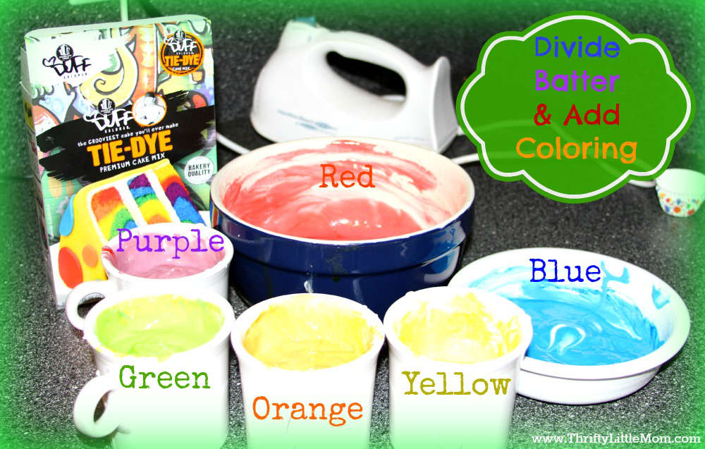 Rainbow Cup Cake Batter