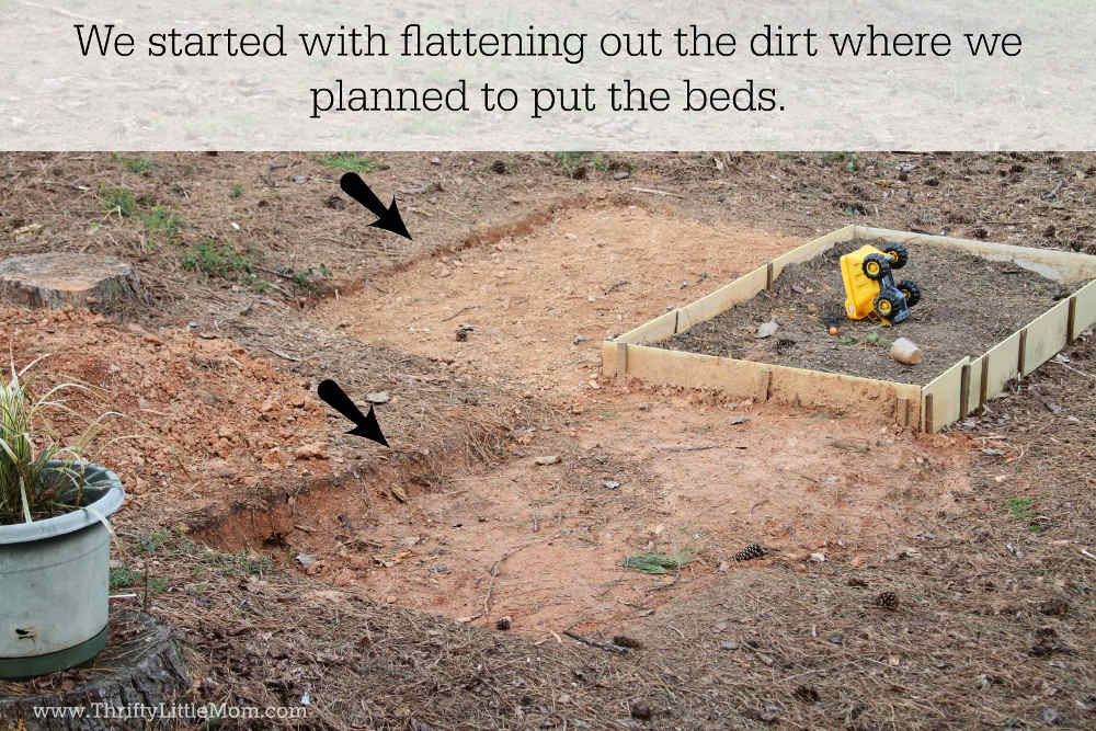 Raised Bed Dirt Flattening