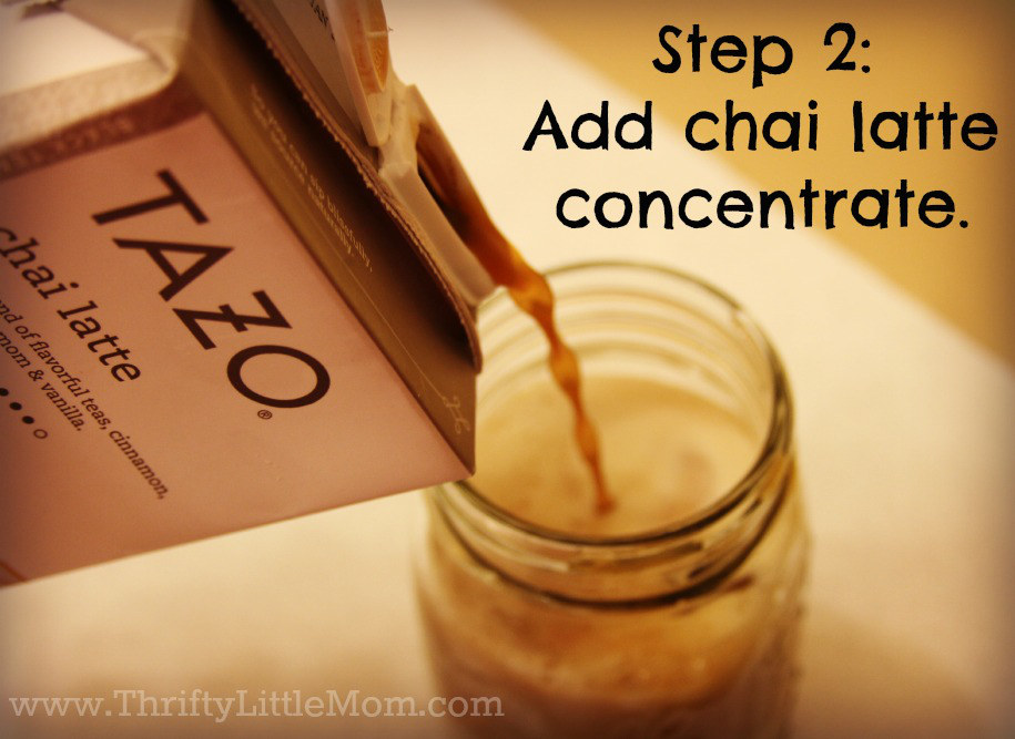 Make your own chai tea latte- concentrate