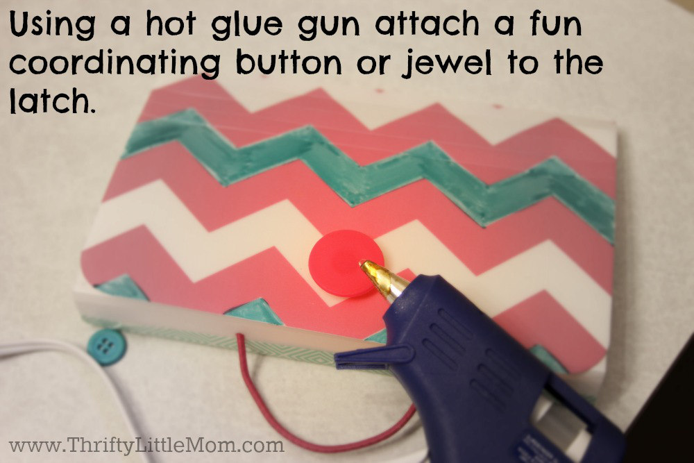 Attach Button With Hot Glue