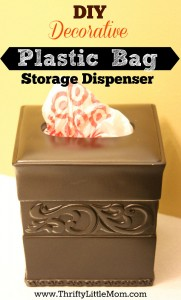 DIY Decorative Plastic Bag Dispenser