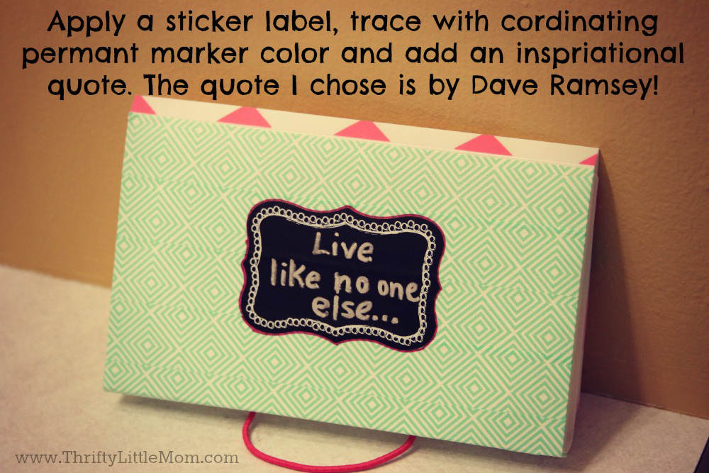 Dave Ramsey Quote Envelope