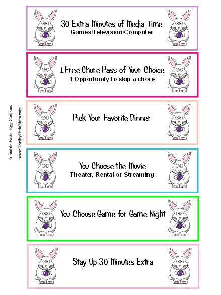 Sample Pic Free Printable Easter Egg Coupons