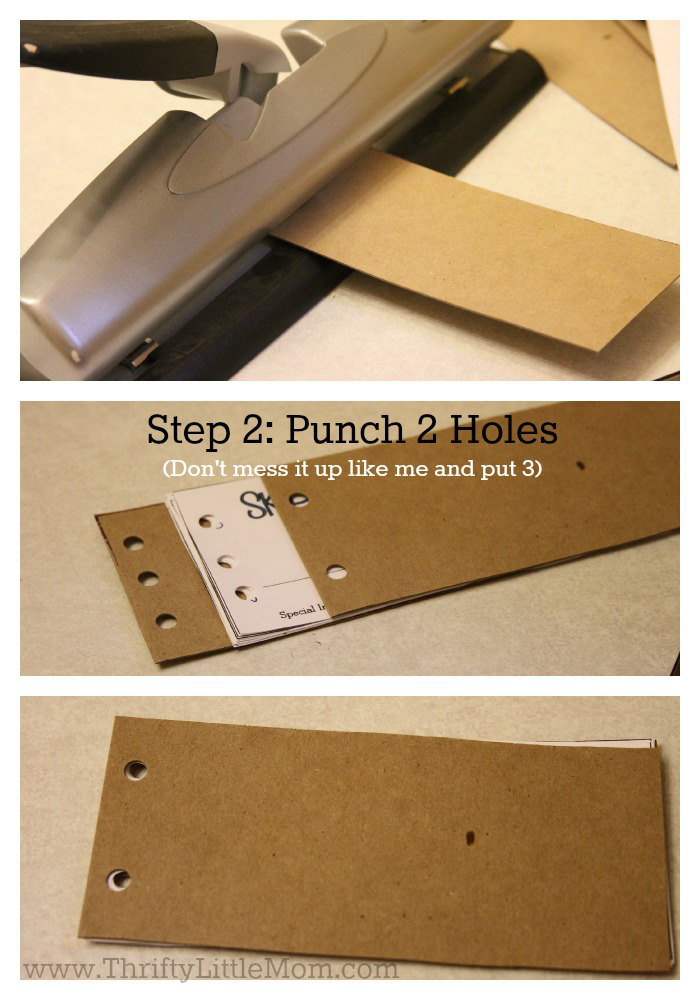 Step 2 Punch Holes in Coupons