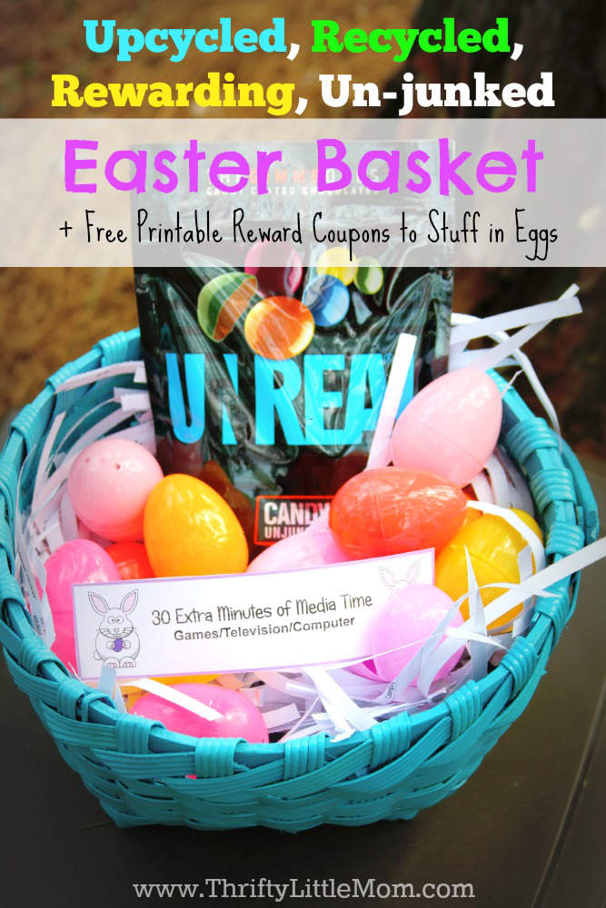 Upcycle, Recycled, Thrifty Easter Basket