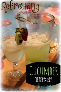 Cucumber Water Recipe Pin