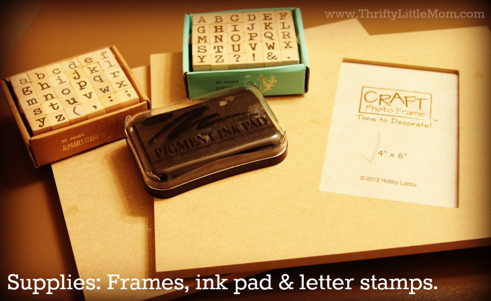 Frame Supplies