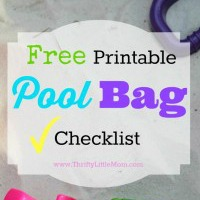 Free Printable Pool Bag Checklist