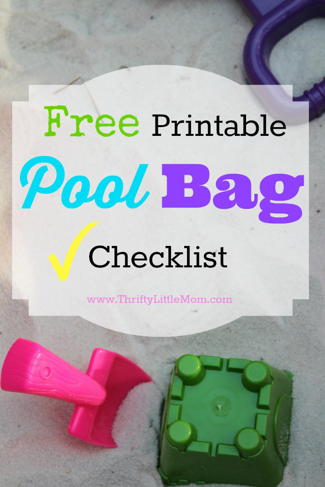 Free Printable Pool Bag Checklist 1