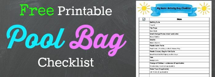 free printable pool bag checklist  u00bb thrifty little mom