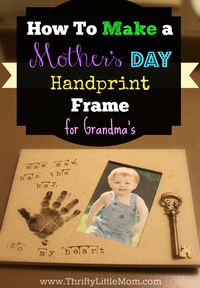 Make a handprint frame