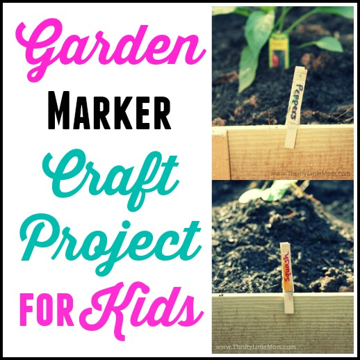 Garden Marker Craft Project For Kids