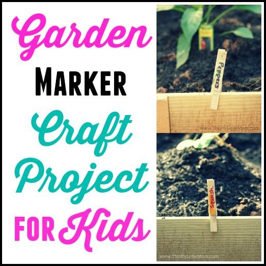 Garden Marker Craft Project For Kids