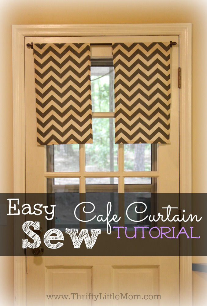 Easy Sew Cafe Curtain Tutorial with step by step directions