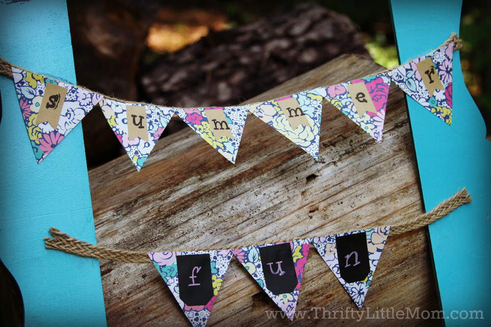 Final How To Make a Frame Door Wreath Bunting