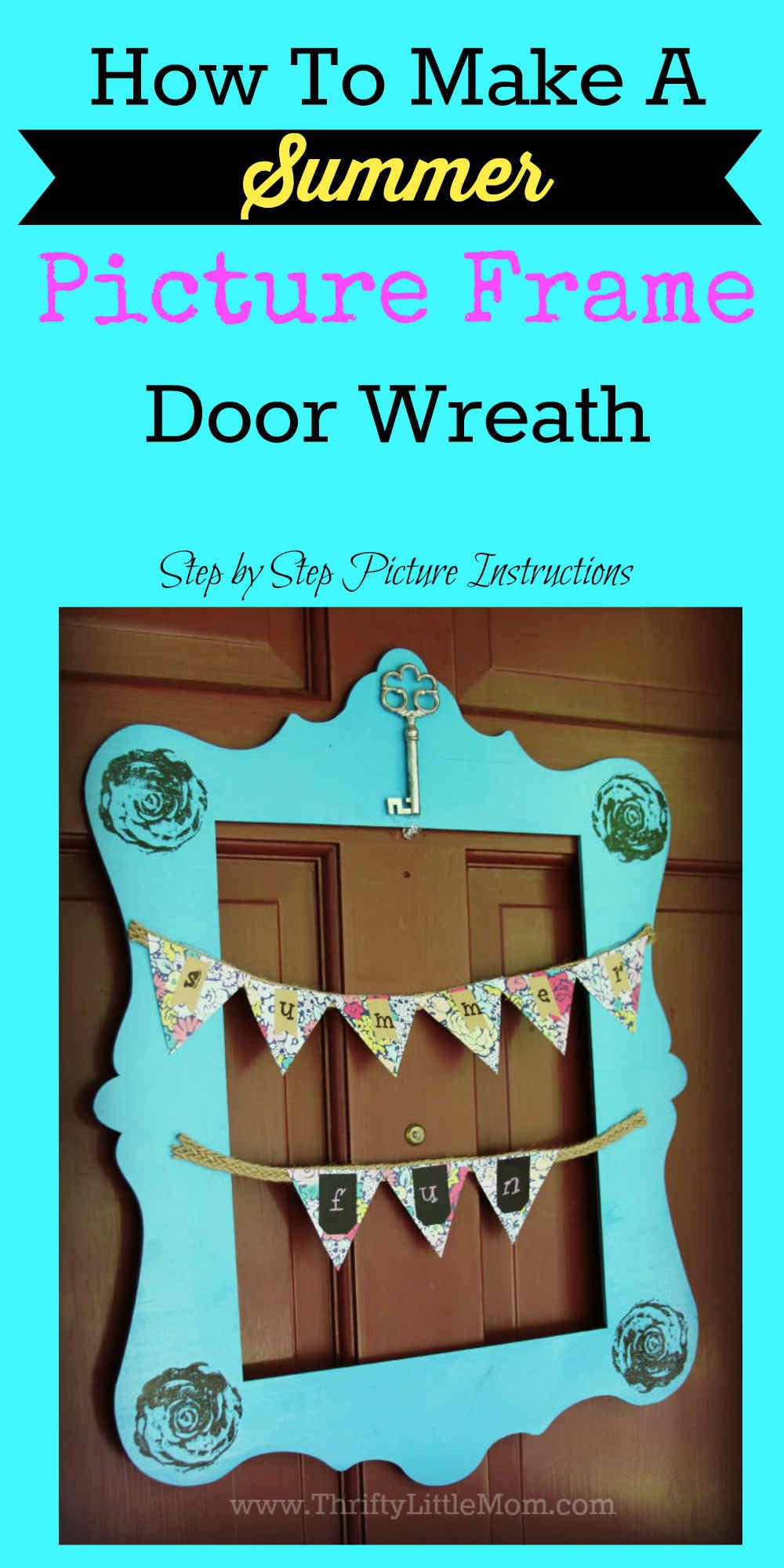 Picture Frame Door Wreath Pinterest