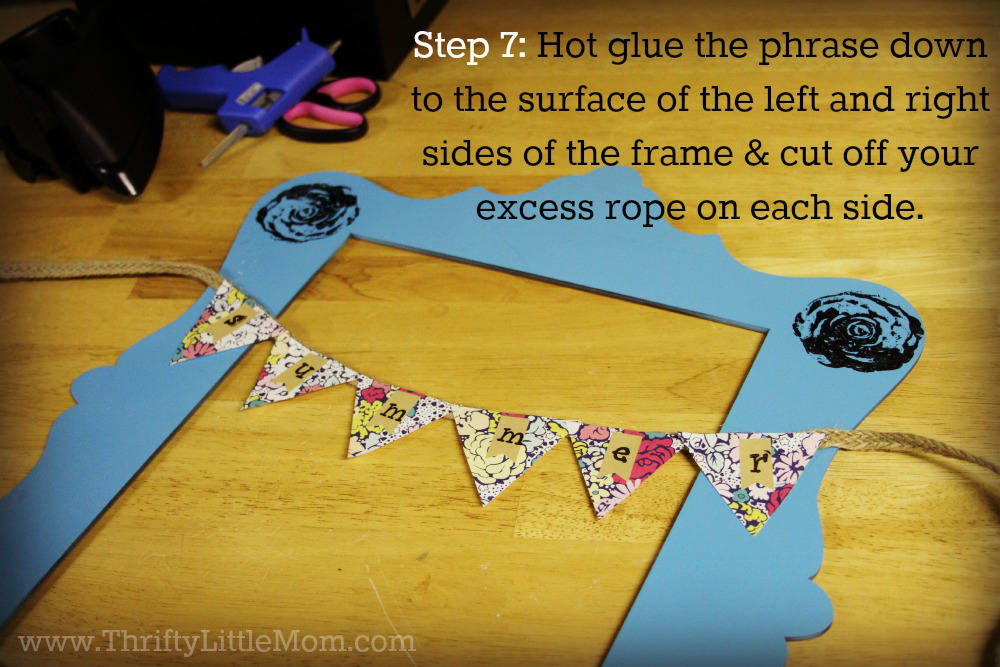 Step 7- How to make a Frame Door Wreath