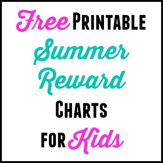 Free Printable Summer Reward Chart for Kids