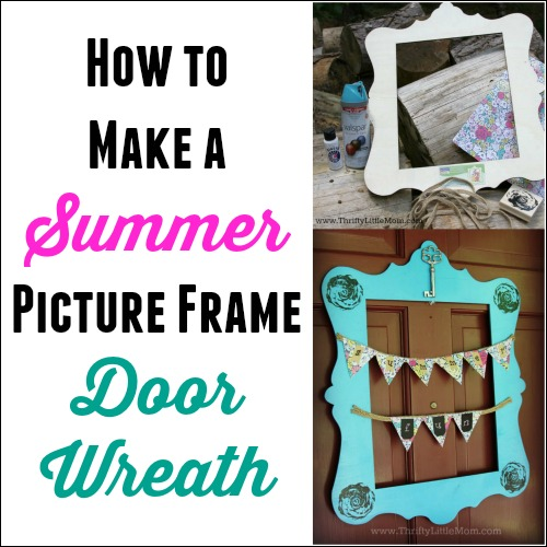 How To Make a Picture Frame Wreath