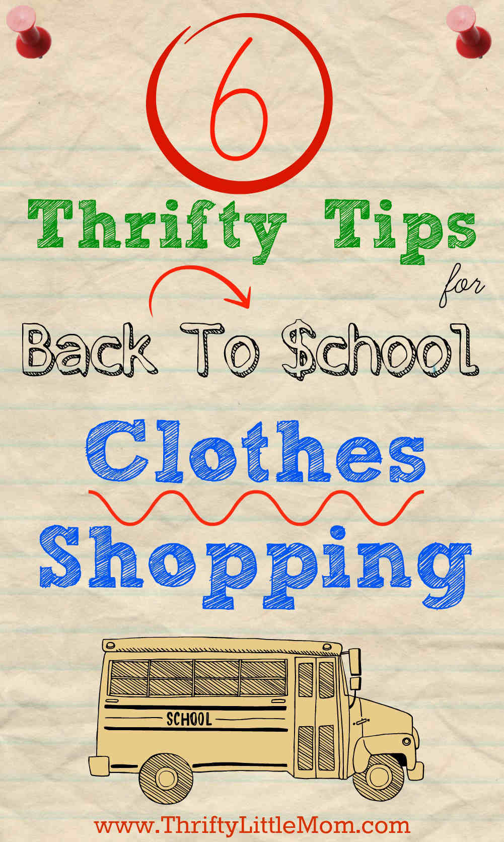 6 Thrifty Tips for Back to School Clothes Shopping