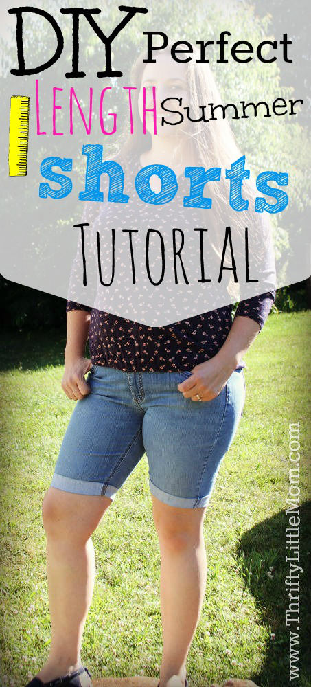 DIY Perfect Length Summer Shorts Tutorial