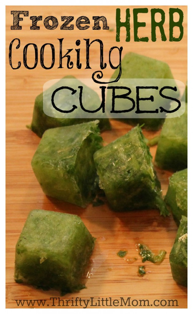Frozen Herb Cooking Cubes 1