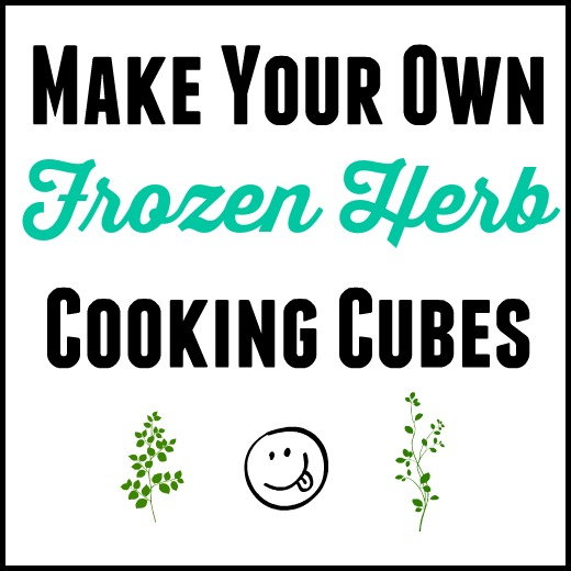 Frozen Herb Cooking Cubes