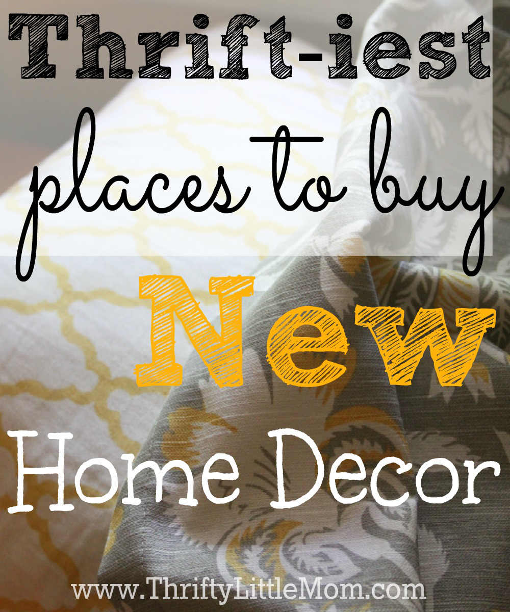 The thriftiest places to buy new home decor thrifty for Home decor places