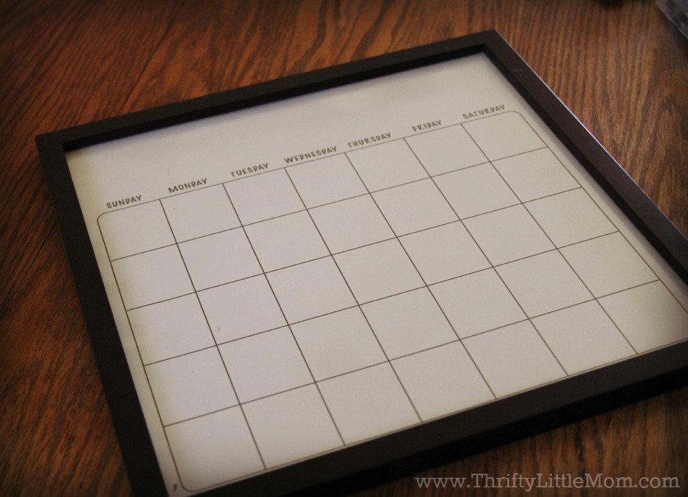 diy dry erase family wall calendar frame