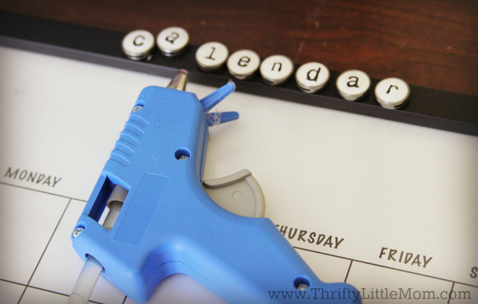 DIY Dry Erase Family Wall Calendar Letters