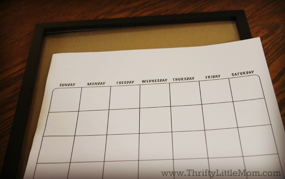 Dry Erase Calendar Diy : Diy dry erase family activity calendar thrifty little mom