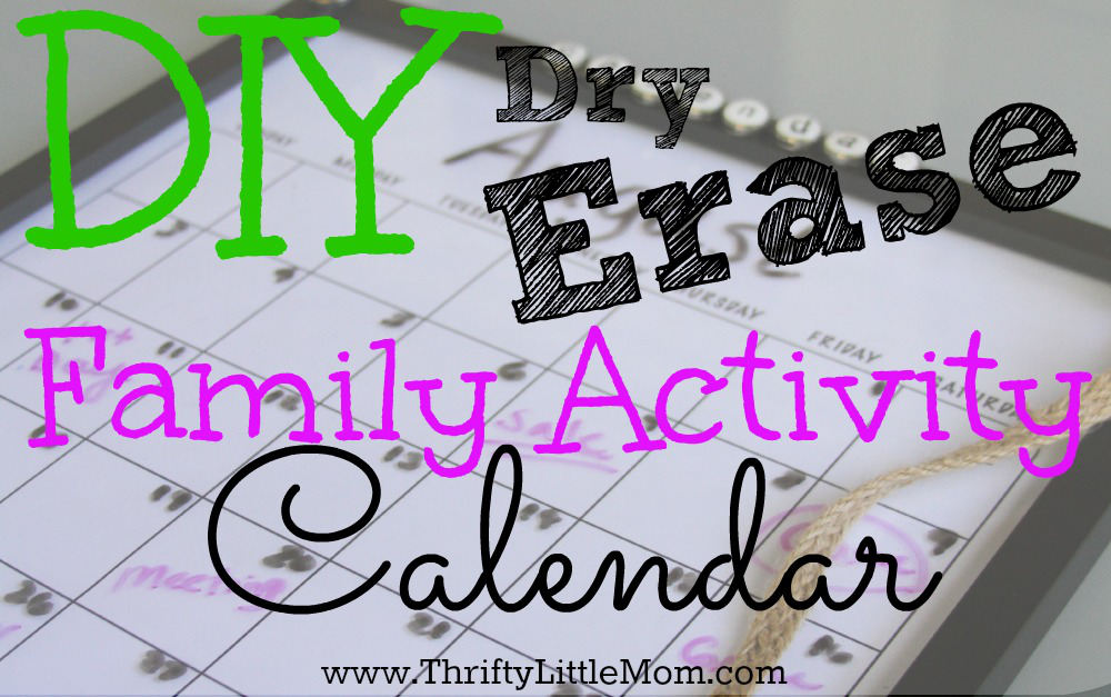 DIY Dry Erase Family Wall Calendar. Keep your families invites, schedules and plans all together on this easy & thrifty calendar.