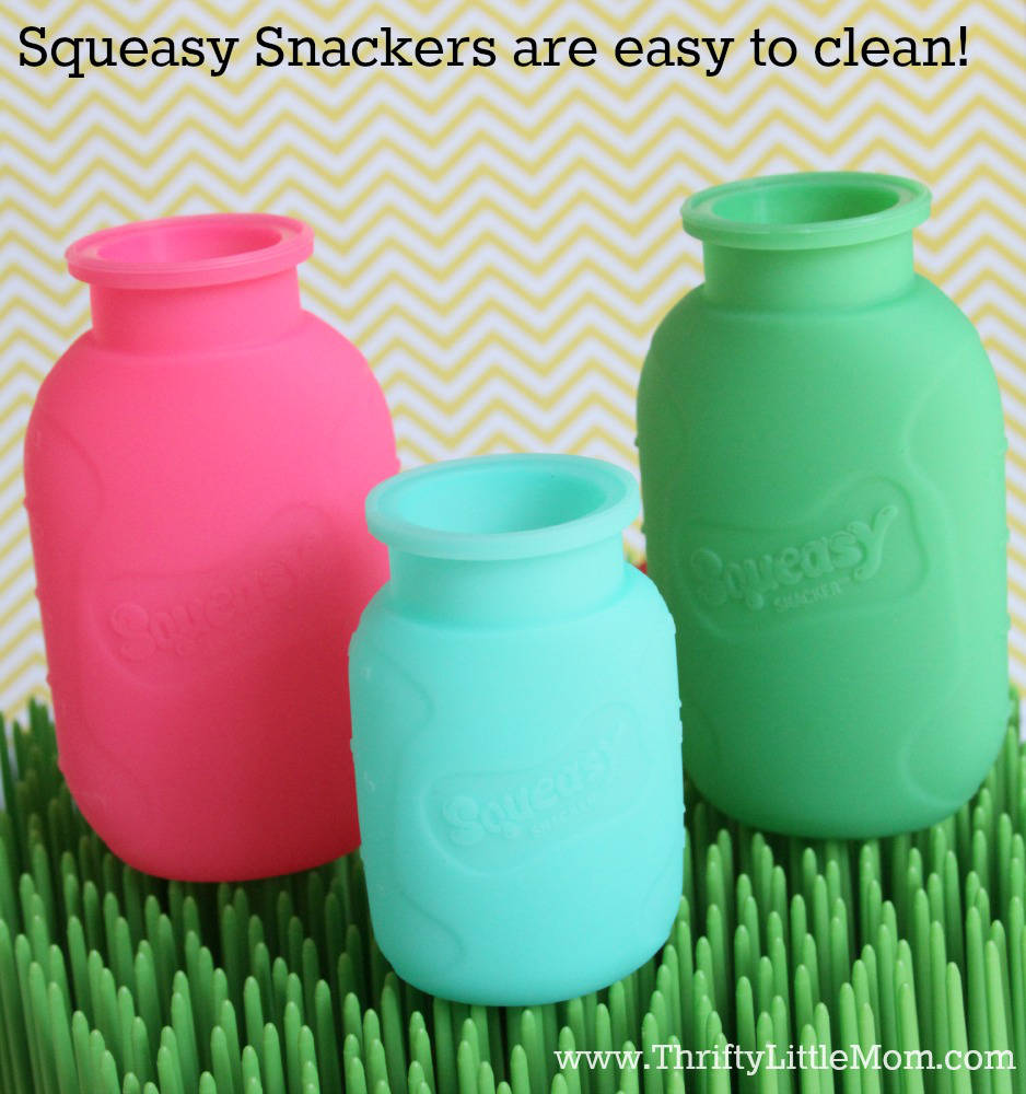 Squeasy Snackers Easy To Clean