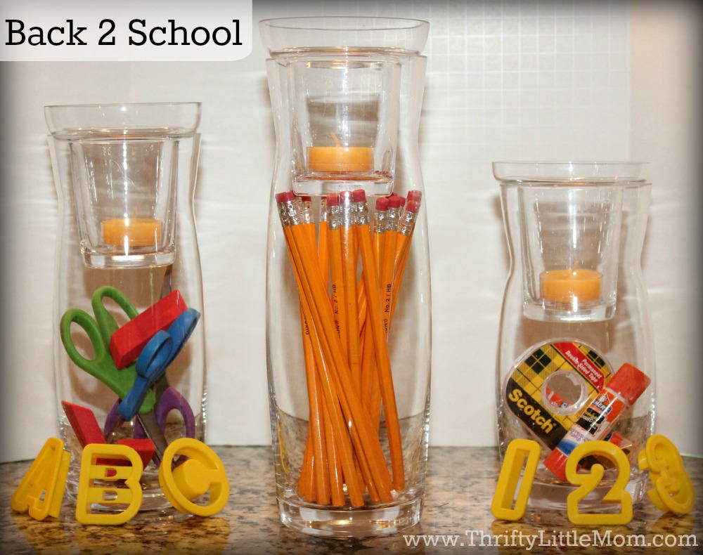 Back To School Simple Mantel Display