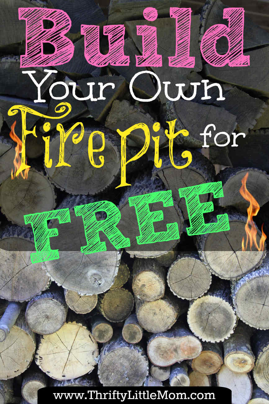 build your own backyard fire pit using free materials thrifty