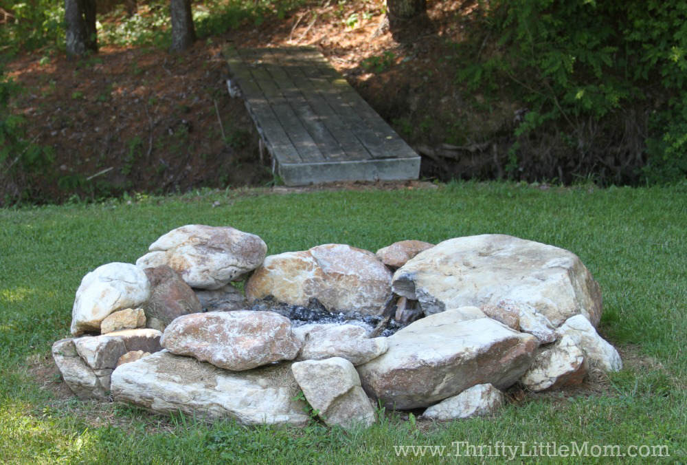 Building a Free Backyard Firepit - Build Your Own Backyard Fire Pit Using Free Materials » Thrifty