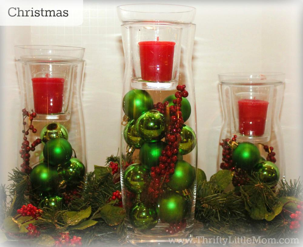 Christmas Simple Mantel Display